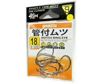 Mata Kail Hook Gamakatsu Mutsu Ring Eye