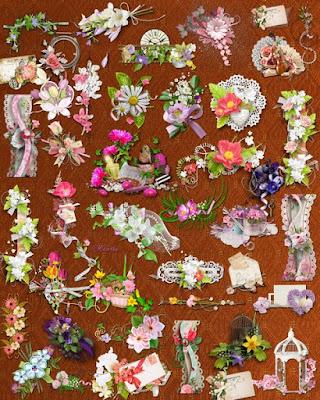 Lovesome flower bundle clipart png