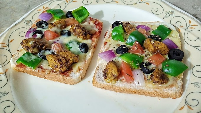 Bread Pizza recipe by Cooking with Saira