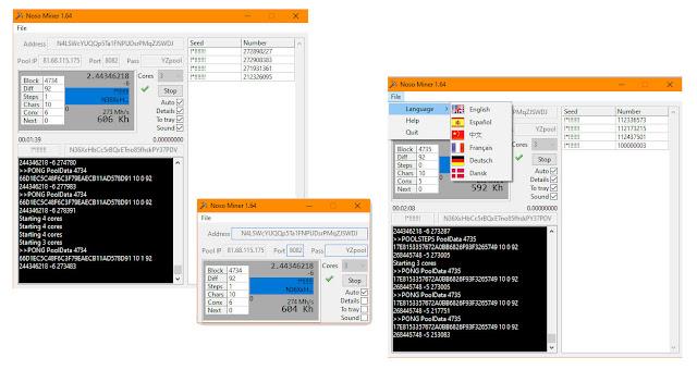Noso Miner Version 1.64