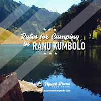 New rules for camping in Ranu Kumbolo