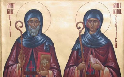 Saint Benedict of Nursia and Saint Scholastica