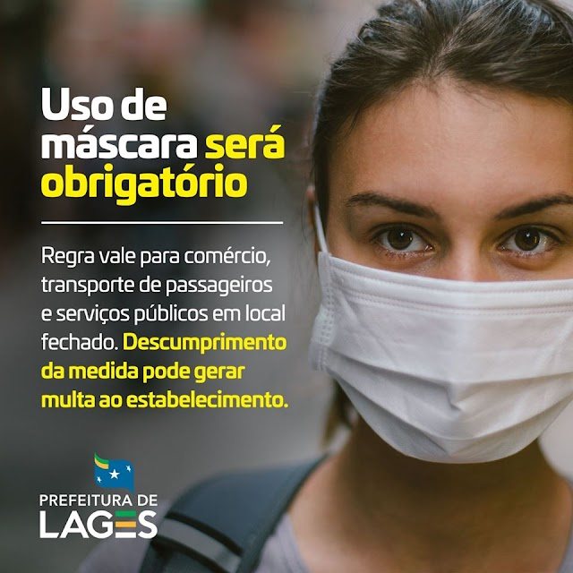 Uso de máscaras obrigatório em Lages