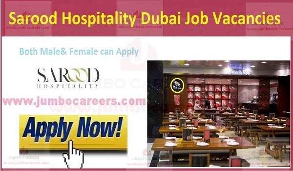 Recent hospitality jobs in UAE, salary jobs in Dubai,