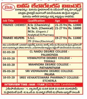 Srikakulam Divis Laboratories walk in interview notification in Srikakulam.png