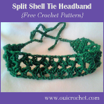 Split Shell Tie Headband