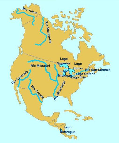 Rios da América do Norte