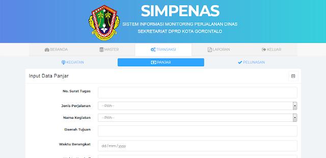 SIMPENAS web