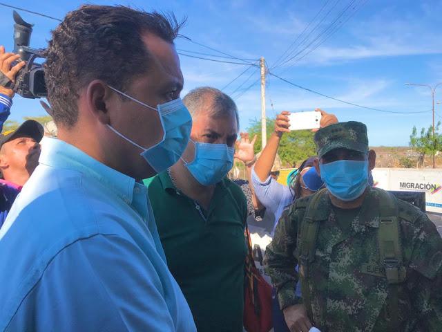 Gobernador de La Guajira inspeccionó cierre de frontera con Venezuela por el COVID-19