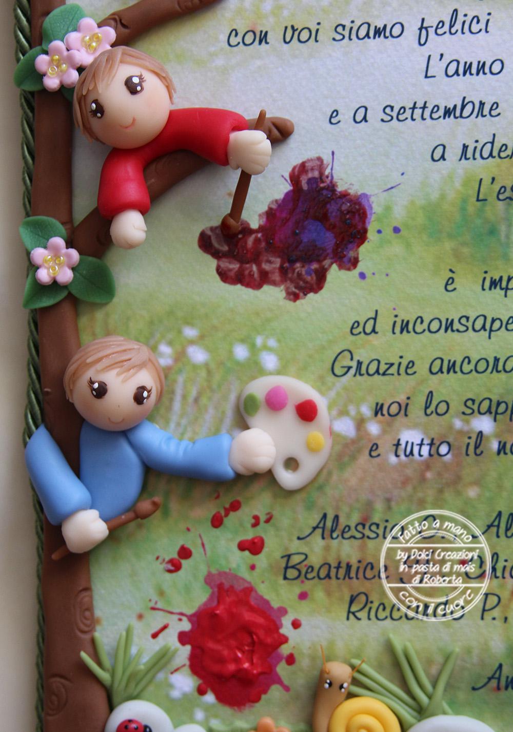 Famoso Dolci creazioni in pasta di mais di Roberta: REGALO ALLE MAESTRE  VB62