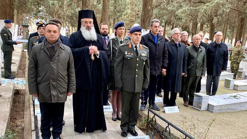 Τρισάγιο για τους πεσόντες στρατιωτικούς τελέστηκε στο Στρατιωτικό Κοιμητήριο Αλεξανδρούπολης