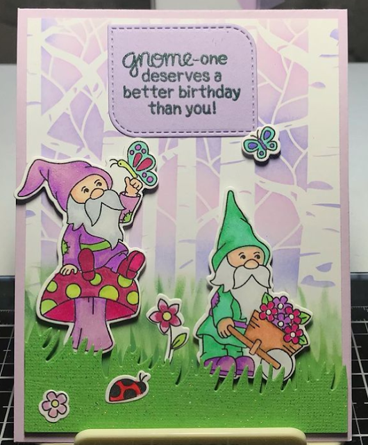 Gnome one deserves a better birthday by Betty features Gnome Garden by Newton's Nook Designs; #inkypaws, #cardmaking, #newtonsnook