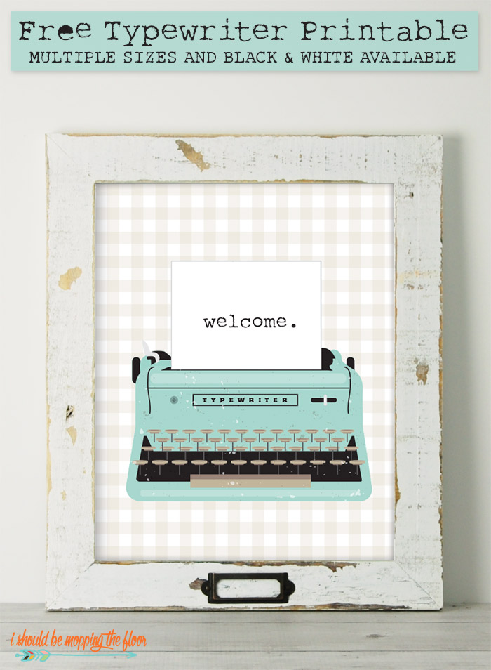 Typewriter Printable