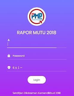Download dan Cetak Raport Mutu PMP Terbaru