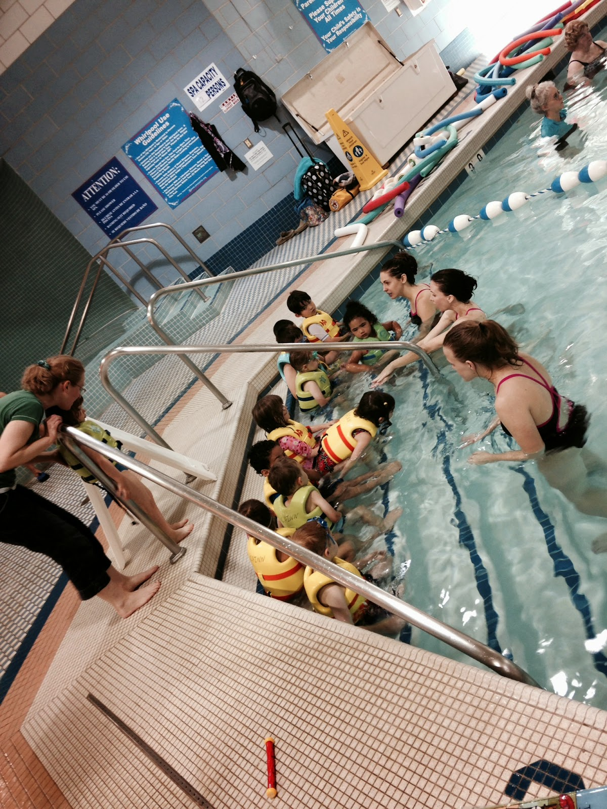 My kids swimming lessons.