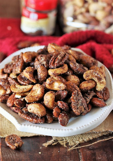 Chai-Spiced Mixed Nuts In a Bowl Image
