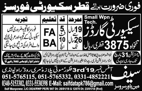 Urgently required for Qatar security forces - Blog 1- Jobs