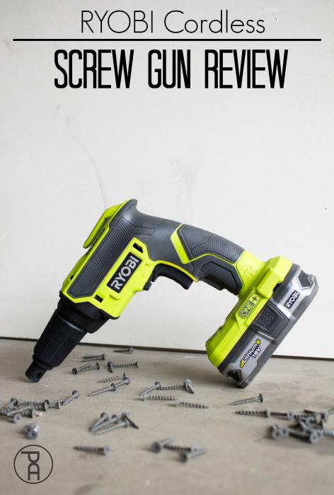 ryobi 18v cordless brushless lightweight inexpensive drywall screw gun tool review