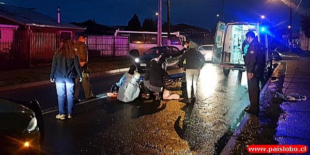 Osorno: Adulto mayor resultó con lesiones tras atropello
