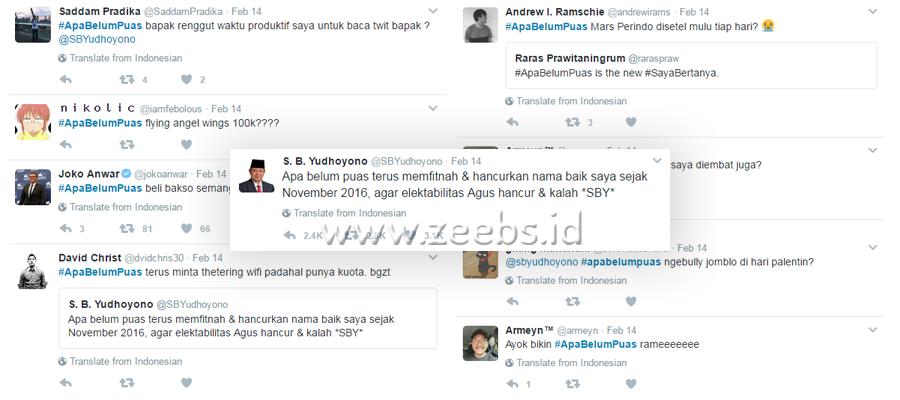 VIRAL! Tweet Kocak SBY #ApaBelumPuas Bikin Ngakak!