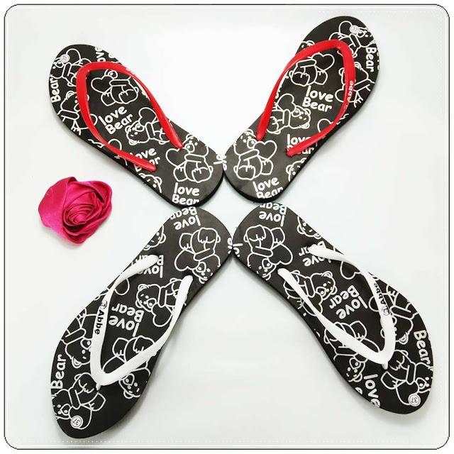 Sandal Jepit Love Bear Spon Cewe 6