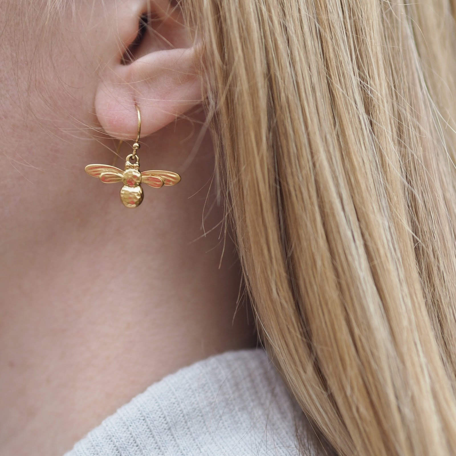 Danon gold honey bee earrings