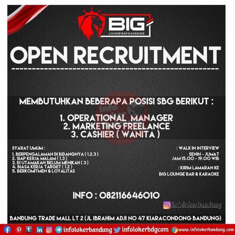 Lowongan Kerja Big Lounge Bar & Karaoke Bandung Juni 2021