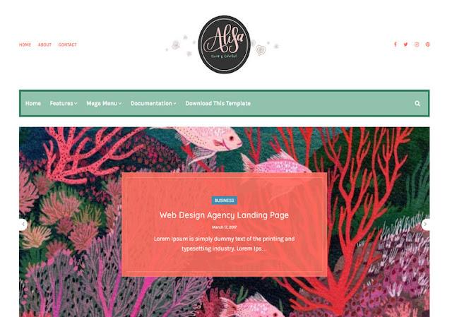 Alisa Blogger Premium Template,Alisa Blogger Premium Version