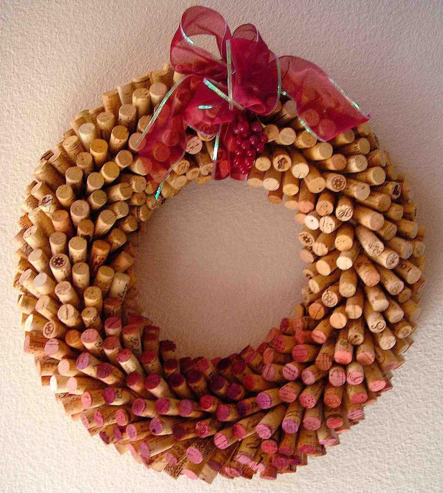 Cork Wreath: Taste N Trip: Cork Creations