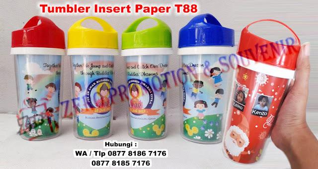 botol minum promosi, tumbler insert paper, tumbler tutup merah, biru, hijau dan kuning