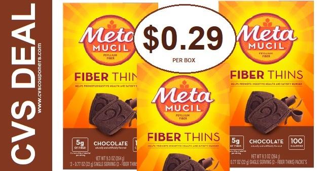 Metamucil Fiber Thins CVS Deal $0.29 12-27-1-2