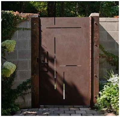 model pintu taman minimalis besi