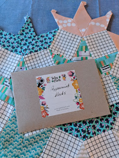 The Seedling Quilts book Peppermint blocks in envelope
