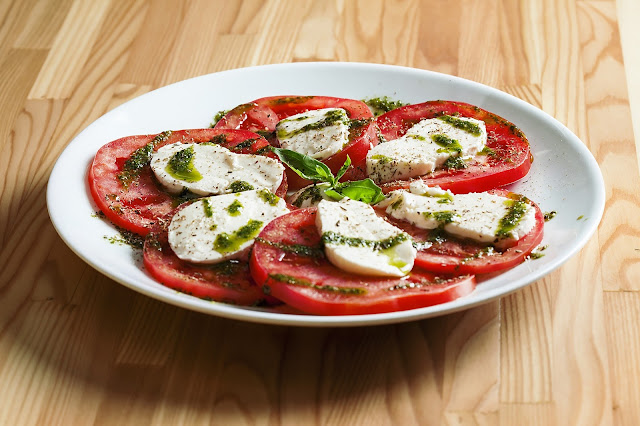 Recette Salade tomate et mozzarella au pesto
