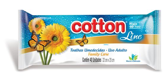 toalhas umedecidas cotton line