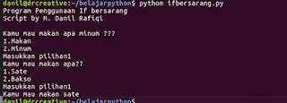 Tutorial Python - If Bersarang