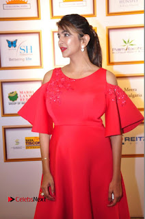Actress Manchu Lakshmi Pictures in Red Long Dress .COM 0113.JPG