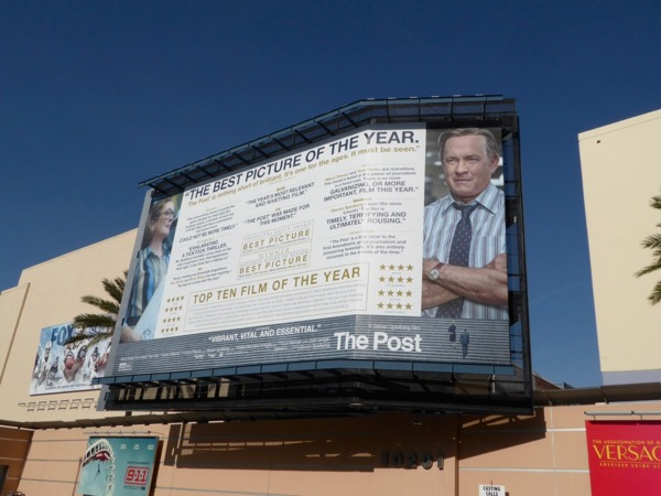 The Post awards consideration billboard