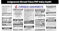 Assignment Abroad Times PDF today Sep04