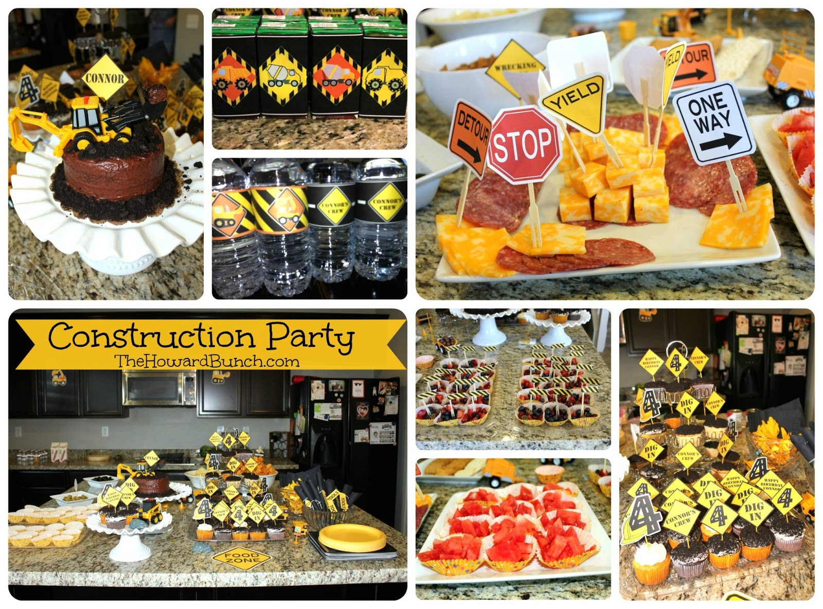 birthday picture ideas for adults - The Howard Bunch A Handmade Construction Party for a Four