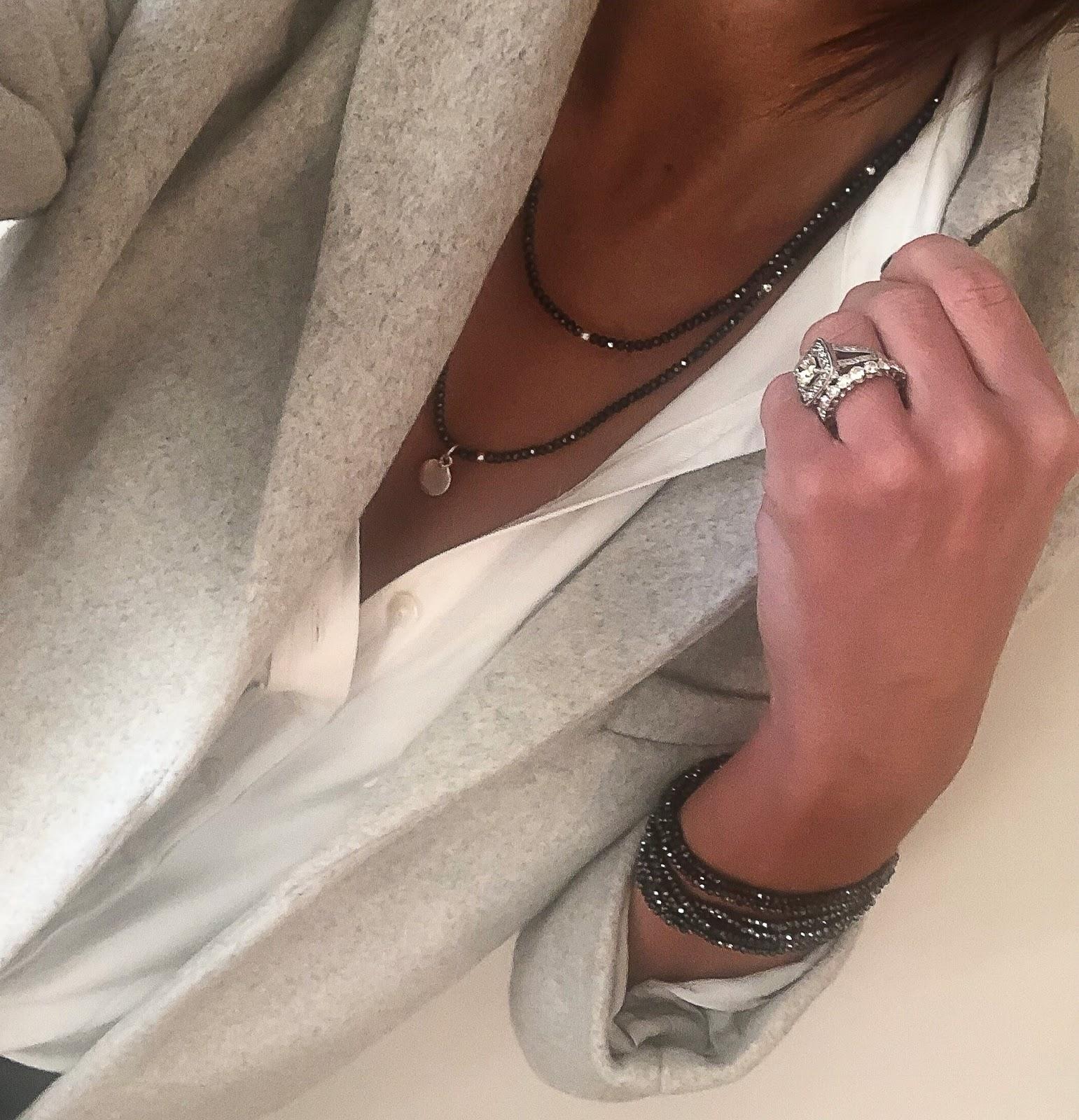 my midlife fashion, olia jewellery, olia jewellery drew necklace, olia jewellery fiona bracelets