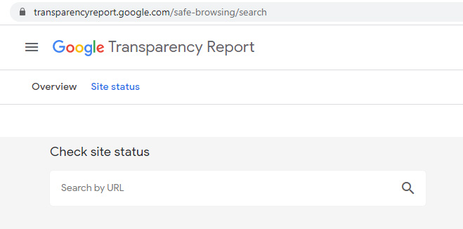 Scan for malware from Google safe browsing