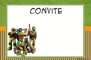 Para hacer invitaciones, tarjetas, marcos de fotos o etiquetas, para imprimir gratis de Tortugas Ninja.