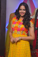 Pujitha in Yellow Ethnic Salawr Suit Stunning Beauty Darshakudu Movie actress Pujitha at a saree store Launch ~ Celebrities Galleries 029.jpg
