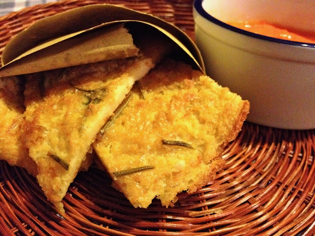 Chickpea flat bread, in Italian Farinata di ceci or Cecina, is made of chickpea flour, water, a bit of salt, black pepper and extra virgin olive oil.