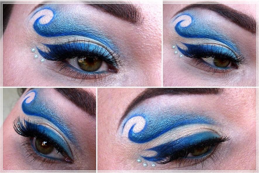 creative ocean eye make up
