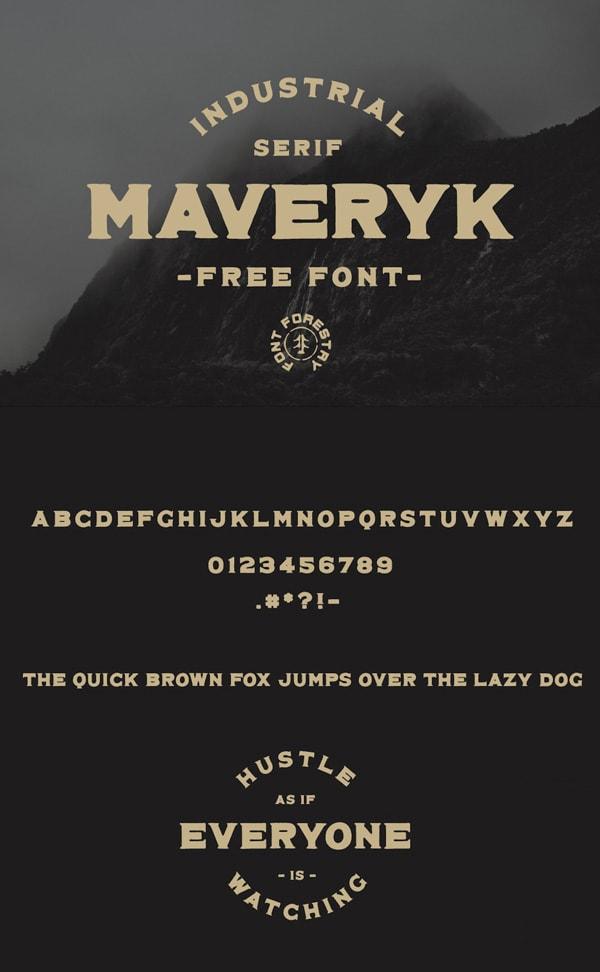 Vintage Font Gratis Terbaik - Maveryk Free Vintage Font