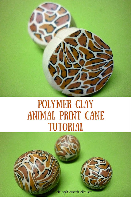 Polymer clay tutorial : animal print cane