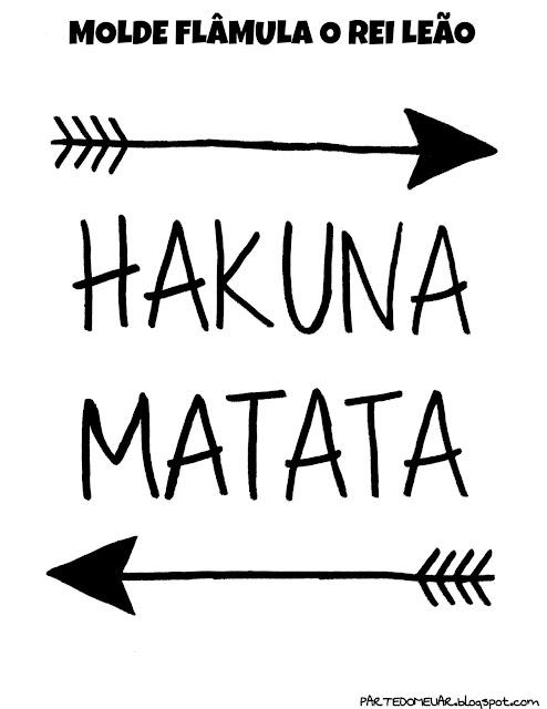 DECORACAO HAKUNA MATATA