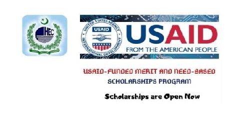HEC USAID - Funded Merit and Need Based Scholarship 2021- Apply online